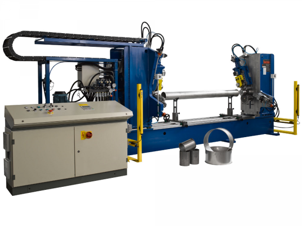 Double head tube end forming machine model 3/2000